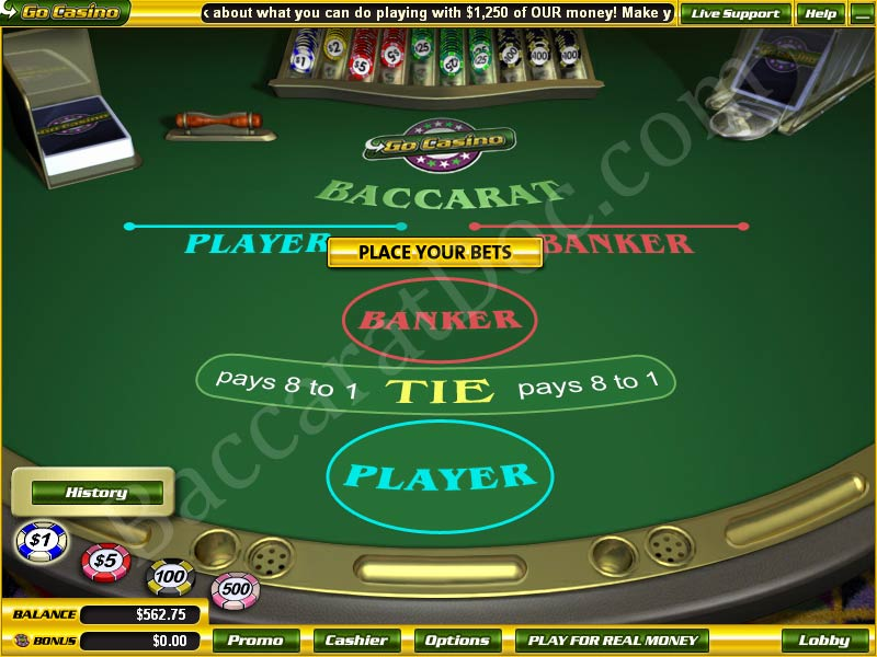 play internet baccarat