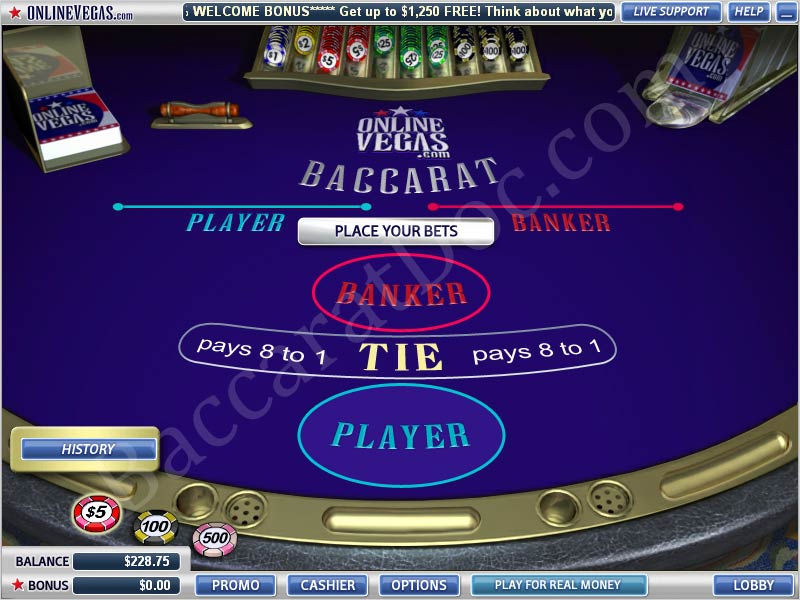 how to play ez baccarat for fun